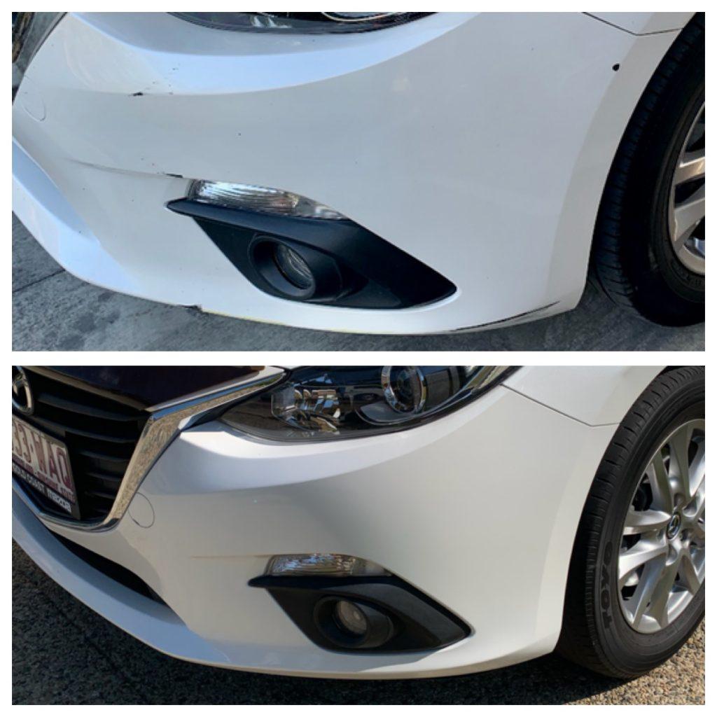 Mazda Bumper Bar Scratch Repair Gold Coast 0402029277
