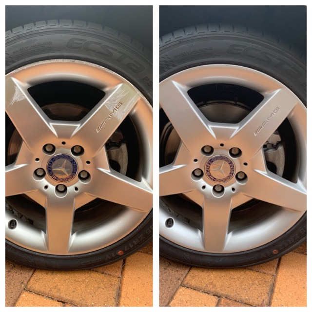 Damaged Mercedes wheel Gold Coast 0402029277