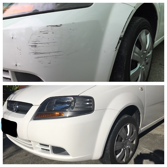 Scuffed Bumper Bar Repairs Gold Coast 0402029277