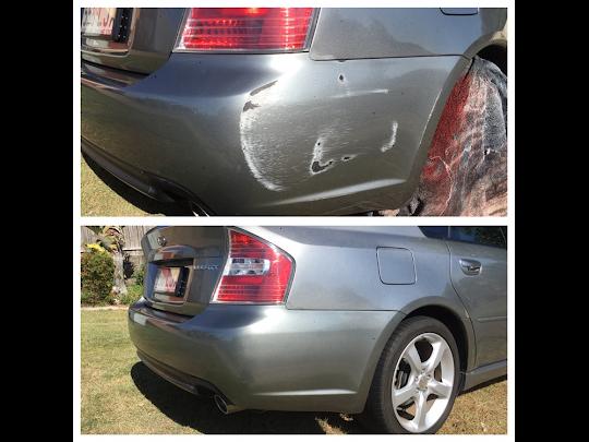 scuffed bumper bar fix Gold Coast 0402029277