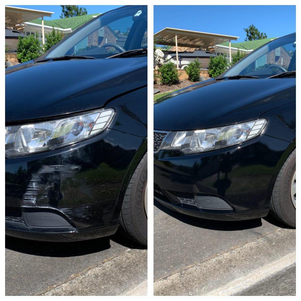 Kia Cerato Bumper Scrape repair Gold Coast 0402029277