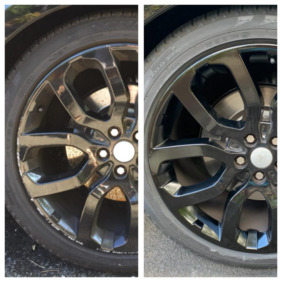 Black rims alloy wheel repairs Gold Coast 0402029277
