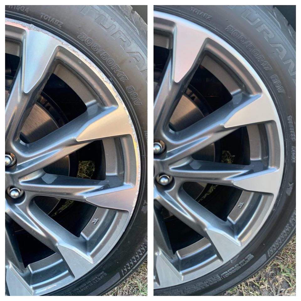 scratched wheel repair Gold Coast 0402029277