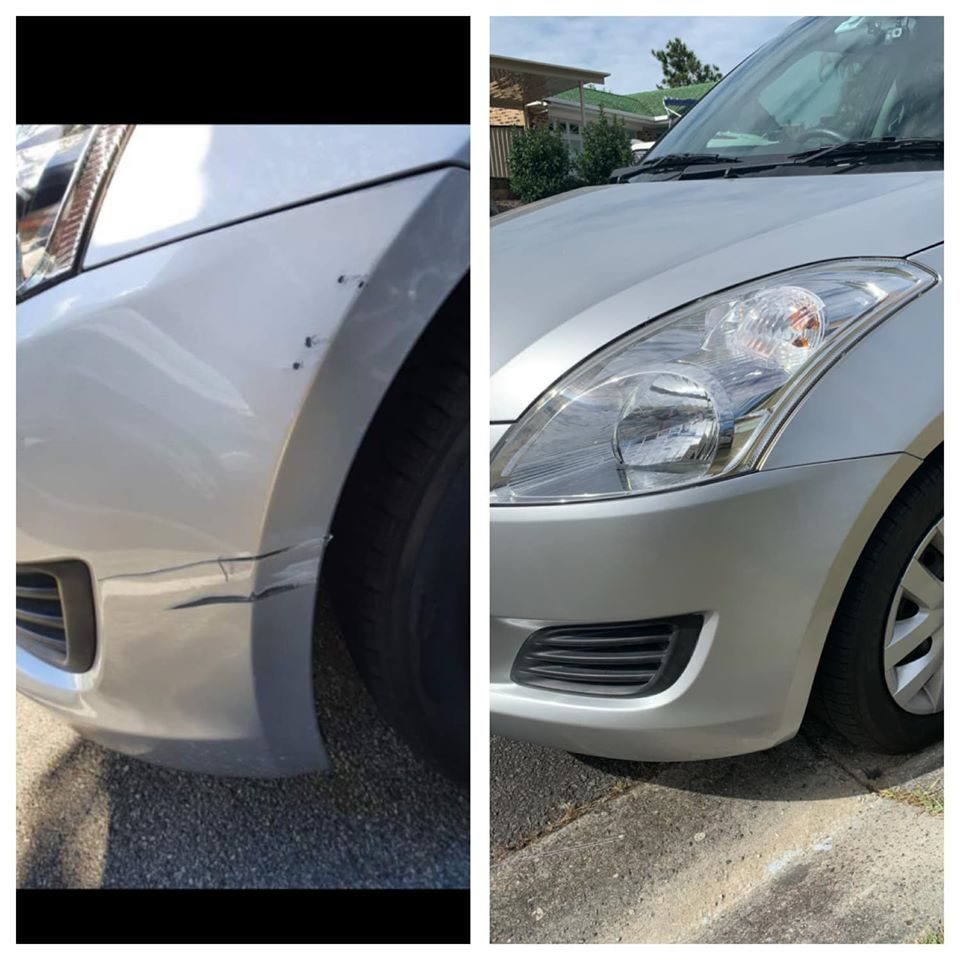 Bumper scratch repair Gold Coast 0402029277