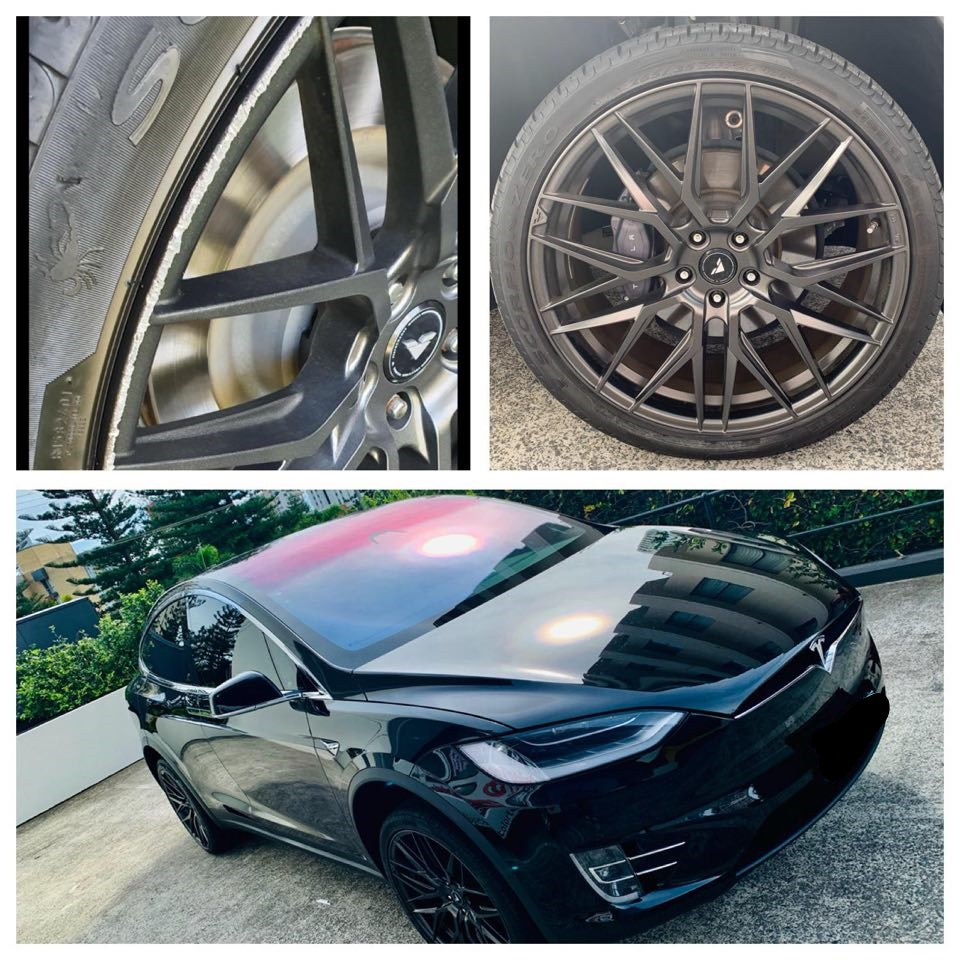 Tesla Wheel repairs Gold Coast 0402029277